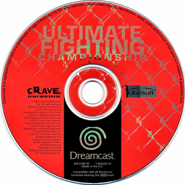 Ultimate Fighting Championship Dreamcast: Ultimate Fighting Championship / Dreamcast